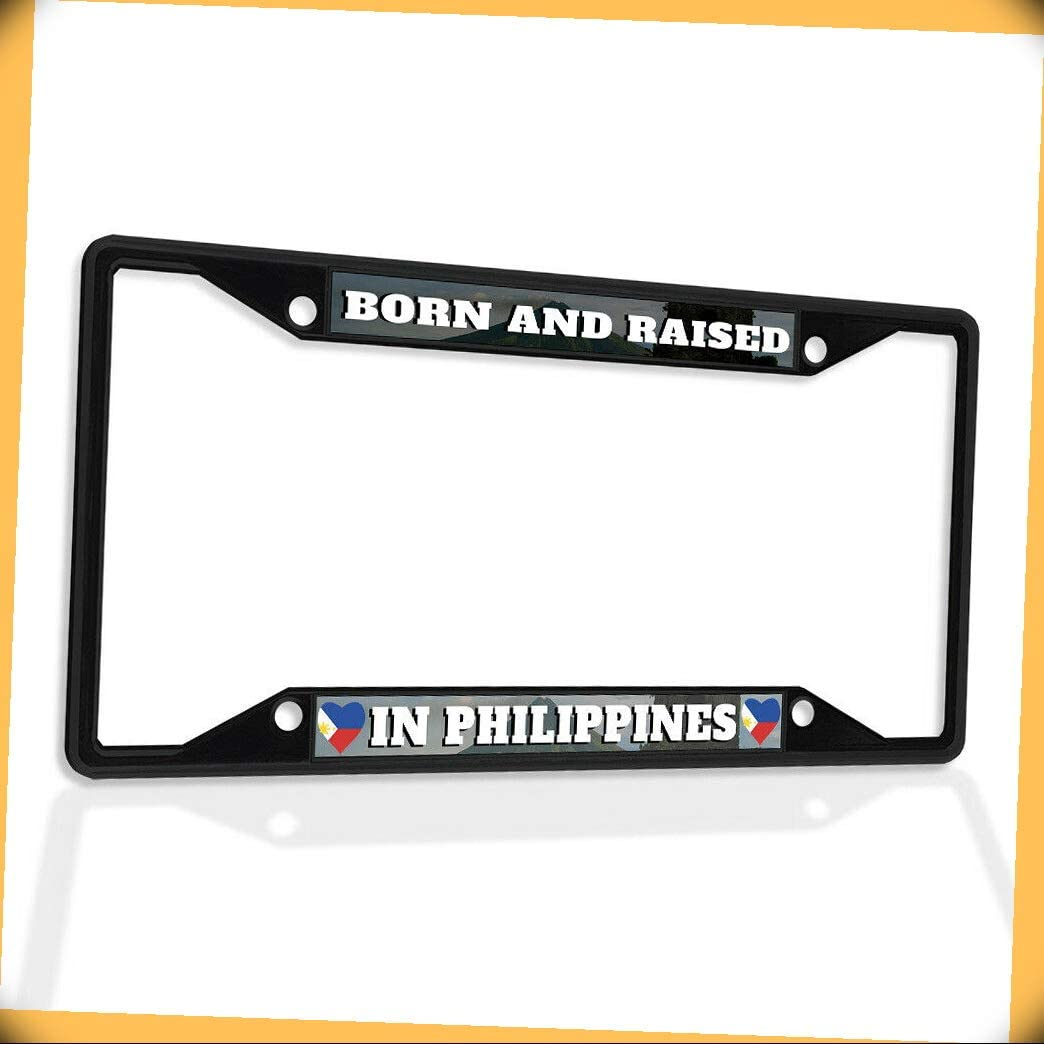 New Philadelphia Mall 4 years warranty Metal Aluminum Alloy Black B4K Bo Plate Insert License Frame