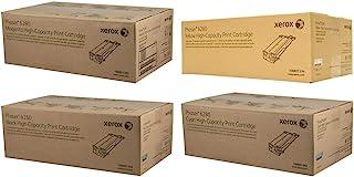 Xerox Phaser 6280n Toner Cartridge Set Part # 106r01392, 106r01393, 106r01394 106r01395 (OEM - high Yield) Black. Cyan. Ma...
