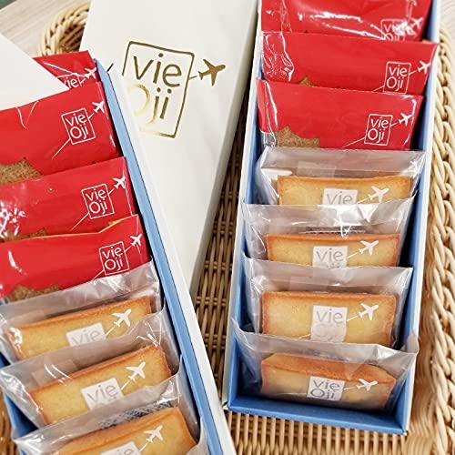 vie Oji フィナンシェ 8個入×2箱(プレーン・和紅茶 日向夏味 各4個×2)ANAウィングフェローズ・ヴイ王子
