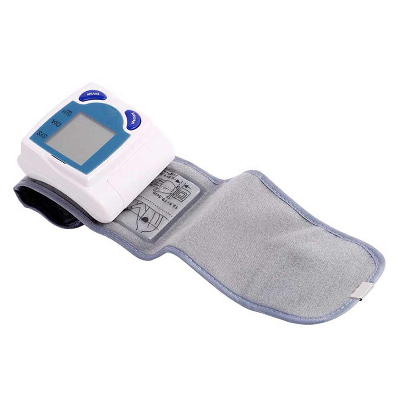 Gloryelenxs Digital Wrist Cuff Blood Pressure Monitor Heart Beat Rate Pulse Meter Measure