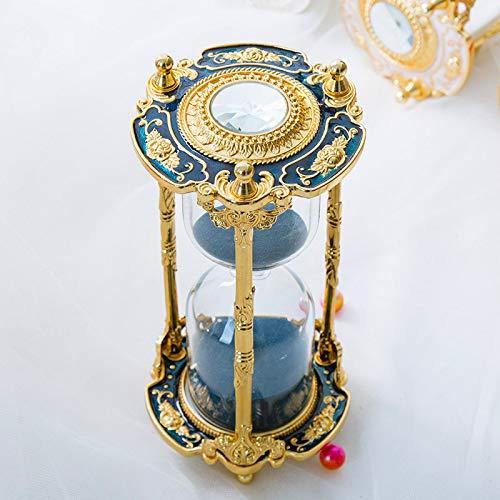 DearSnow Timer Clessidra per Decorazione di Ornamenti Ristorante Soggiorno Armadio per casa Scrivania da Ufficio Camera da Letto, Regalo di Festa(Love You Blue,7.5 * 16.3cm)