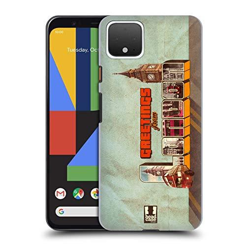 Head Case Designs Londoner Roter Doppeldeckerbus Schönsten Orte Der Welt Vintage Postkarten Harte Rueckseiten Handyhülle Hülle Huelle kompatibel mit Google Pixel 4