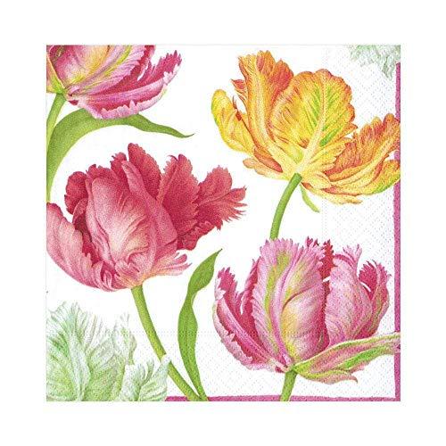 Caspari Papierservietten mit Tulpenmotiv, 20Stück