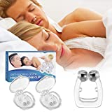 Snore Stopper Device, Raxurt 2 Pack Silicone Magnetic Anti Snore Nose Clip Comfortable & Effective Nose Vents Snoring Stopper Sleep Aid for Men Women
