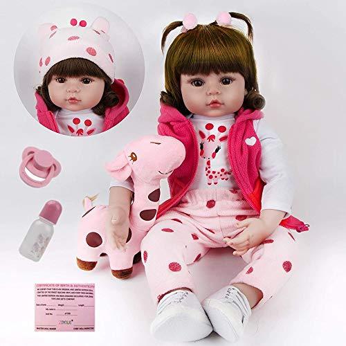 ZIYIUI Bambola Reborn Femmina19Pollici 47Cm Realistic Morbido Bambole Reborn in Silicone Vinile Ragazza del Ragazzo Regalo di Compleanno Regalo di Natale