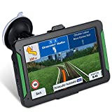GPS Navigation for Car and Truck 7 Inch Version Americas Map & Voice Reported Highway Speed Camera & Poi Lane Assist, Supported Post Code, Favorites & Address Search