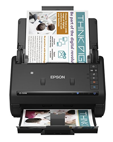 Epson WorkForce ES-500W Wireless Color Duplex Document Scanner for PC and Mac, Auto Document Feeder (ADF) Hawaii