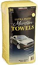 Kirkland Signature Ultra High Pile Premium Microfiber Towels, 36 Count (Pack of 1), Yellow - 713160