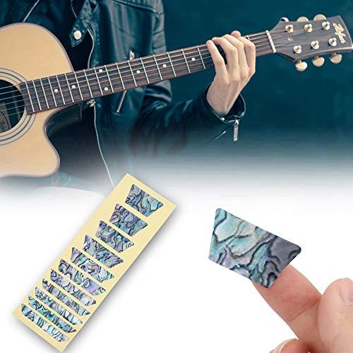 Griffbrettmarkierungen, auffällige Inlay-Aufkleber-Abziehbilder, exquisit für das Dekorieren von Gitarrenlernen