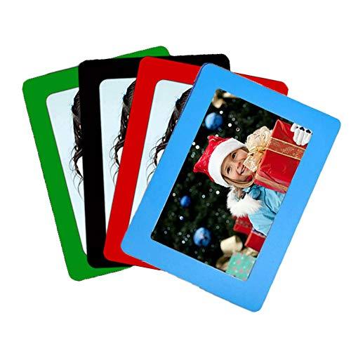 Portafoto Magnetici, 4 Pezzi Cornici Magnetiche per Frigorifero, Magnetico Frigo Cornici Per Foto, Cornici Magnetici per Frigorifero, Cornici Magnetiche per Foto, per Decorazione Foto di Famiglia