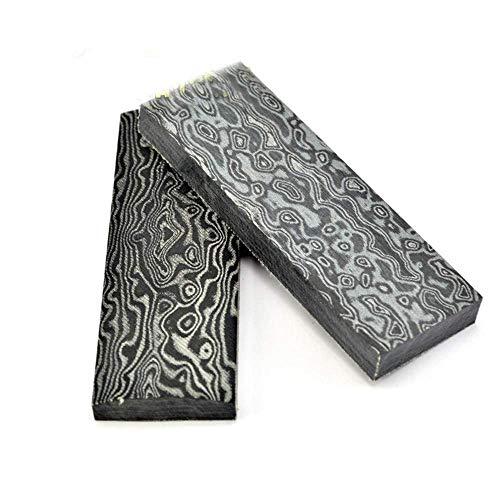 Aibote 2 stück Micarta Messer Griff Waagen Platten Messer Benutzerdefinierte DIY Werkzeug Material für Messerherstellung Blanks Klingen (120X40X10MM, Damaskus-Stil)