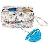 Luxja Sac pelote de Laine, Sac pour Tricot, Sac Tricot pour Crochet Laine, Aiguilles à Tricoter (Max 10 Pouces) et d'autres Accessoires