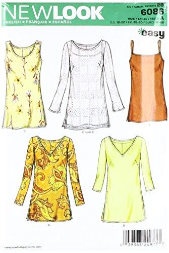 New Look, Cartamodello per magliette e camicie Donna, taglie 44-56