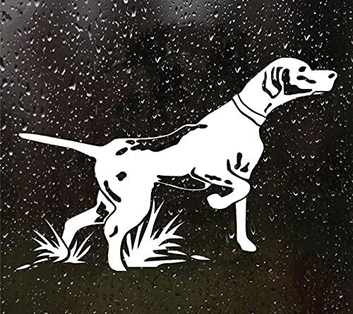 ZCZWQ Peñidor de caza del perro pegatina de vinilo calcomanía automática de la etiqueta automática para el parachoques del coche/ventana trasera, 21 cm x 14 cm alcomanías para autos baratas
