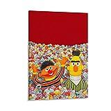 Wandkunst-Poster Sesamstraße Bert und Ernie Home Decor