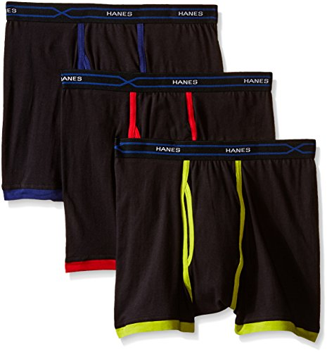 Hanes Men's 3-Pack X-Temp Short Leg Active Cool Boxer Brief, Assorted,...