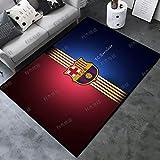 Kele Alfombra para los Amantes del fútbol Sala de Estar Alfombra Grande Moderno Rojo Azul Equipo de Barcelona niños habitación Infantil Alfombra Antideslizante 140 * 200 cm