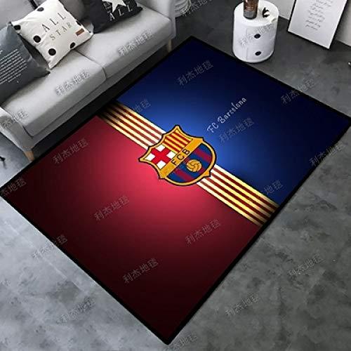Kele Alfombra para los Amantes del fútbol Sala de Estar Alfombra Grande Moderno Rojo Azul Equipo de Barcelona niños habitación Infantil Alfombra Antideslizante 60 * 90 cm
