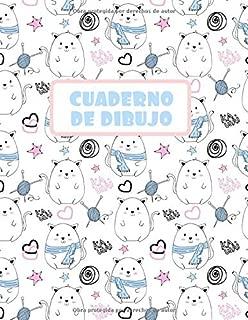 CUADERNO DE DIBUJO: BLOCK DE 100 PAGINAS EN BLANCO. LIBRETA ESPECIAL DIBUJO. REGALO CREATIVO Y ORIGINAL PARA NIÑOS Y JÓVENES. BONITO DISEÑO DE PERRITOS. (Spanish Edition)