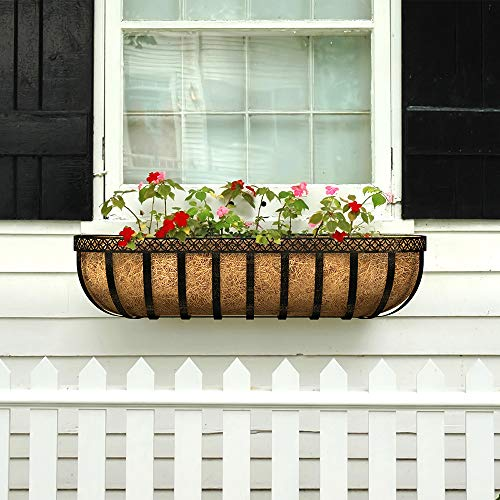 Panacea Artisan Window Planter with Coco Liner 30