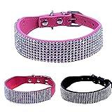 Brillantes Collar de perro banda cinta Cachorros Collar de perro de...
