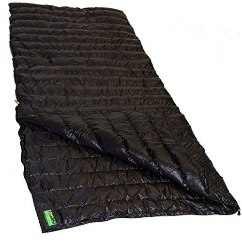 LOWLAND OUTDOOR® - Daunen Deckenschlafsack - Ultra Compact Blanket - 210x80 cm - Nylon 8°C - 445 g