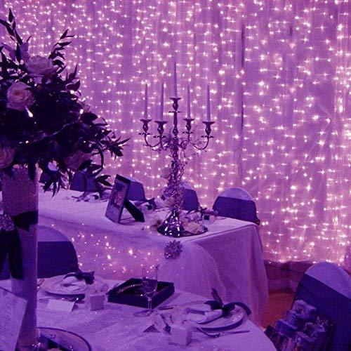 Re-living 200 LEDs, kleur gordijn verlichting, waterdichte koperdraad decoratieve verlichting, binnen en buiten gebruik, 3×2m