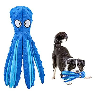 futureyun Dog Squeaky Toys No Stuffing Squeaky Dog Toy Octopus Dog Toys for Puppy Teething Durable Interactive Dog Chew Toys for Small to Medium Dogs Training and Reduce Boredom