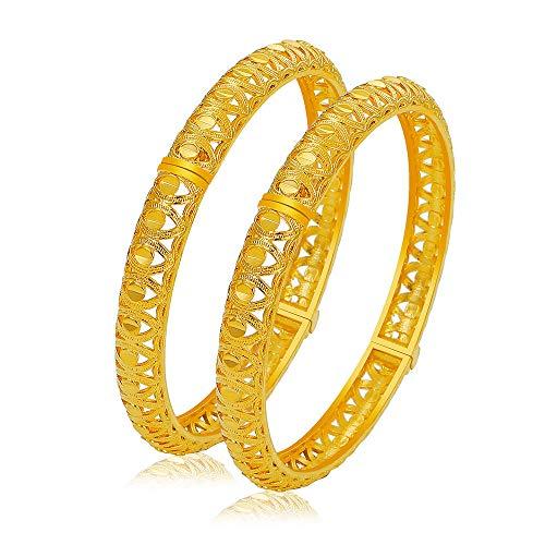 2 Stück/Lot Modeschmuck Indische Bollywood Gold Farbe Braut Combo Armband Armreif Set