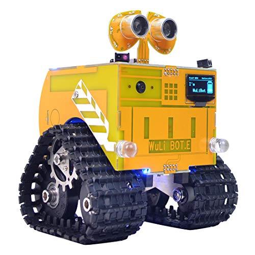 WXJHA DIY Roboter-Bausatz Bildung Roboter Scratch + Mixly Programmierbare Roboter RC Programmiergleis Auto Dampflernspielzeug Geschenk für Kinder