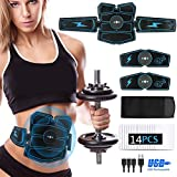 Yissma Muscle Stimulator EMS Abdominals Toner -USB Rechargeable EMS Training Home Office Fitness Equipment