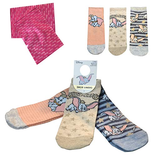 Anime Disney Socks Collection [Pack de 3] – Calcetines de algodón novedosos – Diseños de personajes famosos para mujeres y niñas (tallas de zapatos 4-8) – en caja de regalo Bubblegum