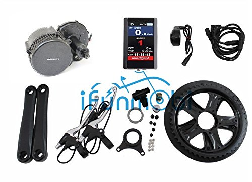 8FUN 36V 500W for Bafang E-Bike/Electric Bicycle Mid-Drive Motor Conversion Kits BBS02B with LCD-TFT850C Display