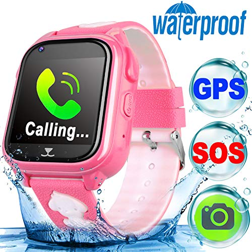 Turnmeon Smart Watch per bambini, ragazzi e ragazze impermeabile fotocamera GPS Tracker SOS anti-perso con touch screen Birthday Gift Travel...