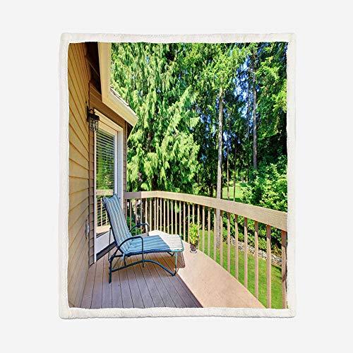 BSZHCT Mantas Reversibles de Franela Sherpa Sillón reclinable Green Forest Suave de Microfibra Mantas de Suave Felpa Sofá y Cama Adultos y niños Picnic de Viaje Manta 130x150cm