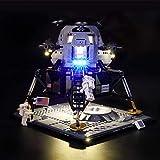 icuanuty Kit de Iluminación LED para Lego 10266, Kit de Luces Compatible con Lego NASA Apollo 11 Lunar Lander (No Incluye Modelo Lego)