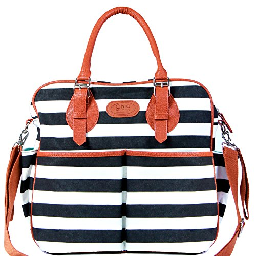 chic mommy diaper bag backpack for girls - convertible designer tote - messenger - stroller...