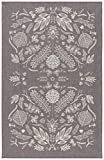 Now Designs Chambray Laurel Kitchen Towel, Gray