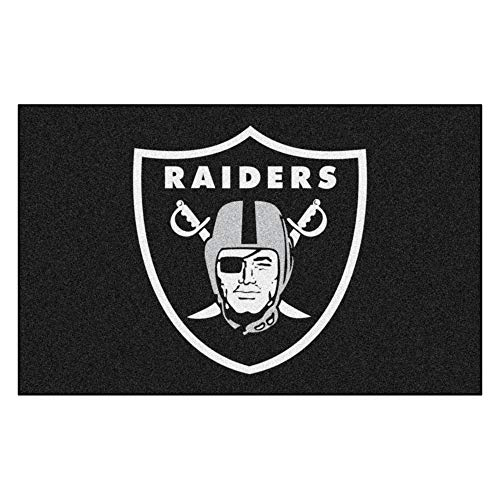 FANMATS Las Vegas Raiders - Alfombra (1,5 x 2,4 m), Color Negro