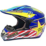 Allround Helmets Motocicleta Sport Integral Off-Road, Dot Certificado Cascos de Motocross,Casco de Cross de Moto Set, Enduro Downhill Casco Integral ATV MTB BMX Quad con Gafas Máscara Guantes