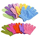 Bath Gloves, 5 Pairs Exfoliating Gloves for Shower Face Body Spa(5 Color)...
