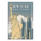 ZHBIN New York City Vintage-Reise-Poster, Freiheitsstatue,