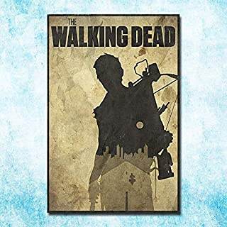 The Walking Dead Temporada 1 a 7 Impresión de póster en lienzo de seda 13x20 24x36 pulgadas Decoración de la pared de la imagen 40x60cm