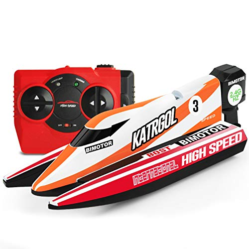 GizmoVine Mini Barco Teledirigido Lancha Teledirigida RC Boat 2.4G High Speed Racing Boat Summer Water Toy para niños (4022 Barco)