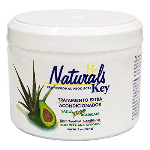 Dominican Hair Product Naturals Key Aloe Vera and Avocado Treatment Conditioner 8oz