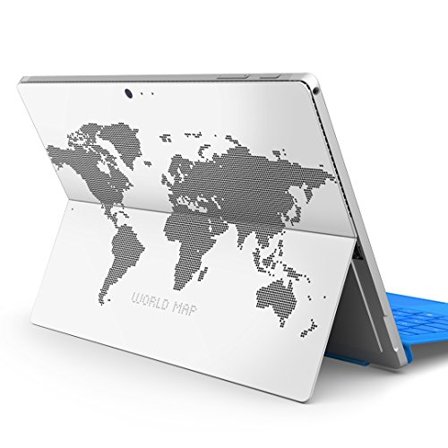 igsticker Decal Cover for Microsoft Surface Pro 7(2019)/ Pro 6 /Pro 2017/ Pro 4/Ultra Thin Protective Body Sticker Skins 012961 world map map