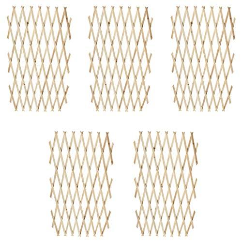 vidaXL Extendable Wood Trellis Fence 180 x 90 cm Set of 5