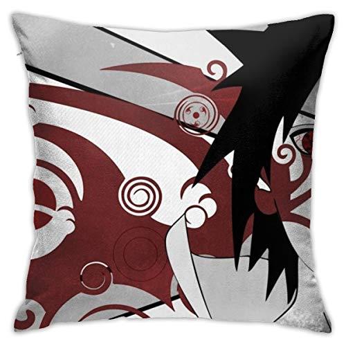 CVDGSAD Naruto Shippuuden Anime Uchiha Sasuke Vector Art Selectivo Coloringsharingan 18' x 18' pulgadas Funda de cojín decorativa fundas de almohada protectores