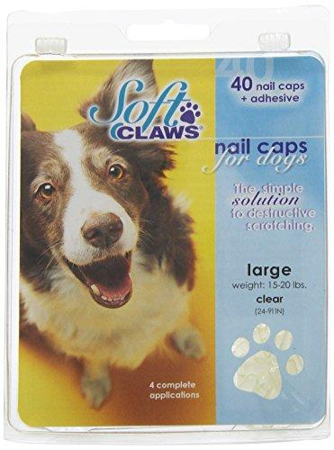 Soft Claws Inc Doux Griffes Chien et Chat kit de caches Take Home à Ongles, Grande, Naturel,