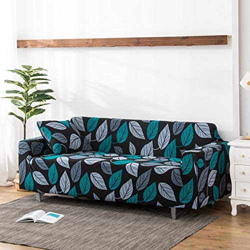 WXQY Funda de sofá elástica para Sala de Estar Funda de sofá Antideslizante con Todo Incluido protección para Mascotas Funda de sofá elástica combinación A9 2 plazas